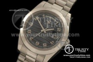 R2DD0172A - SS Pres Smooth Black Numeral Swiss ETA