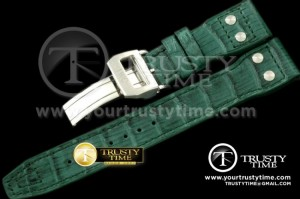 IWCSTP002D - Leather Strap Green for Big Pilot and Top Gun