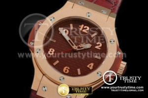HUB120B - Big Bang 38mm RG/LE CF Brown Swiss Quartz