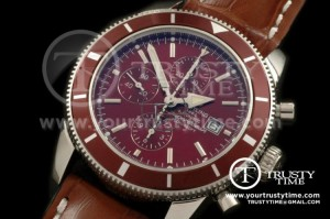BSW0067A - Superocean Heritage Chrono SS/LE Brown A-7750