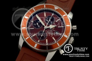 BSW0101B - Superocean Heritage Chrono V2 SS/RU Brown A-7750
