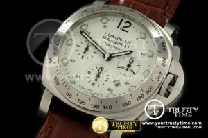 PN251SWLB - Pam 251-K Daylight Chrono SS/LE White Asian 7753