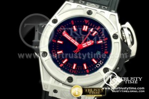 HUB0185C - Lite Diver 4000m SS/RU Black/Red Asian 7750