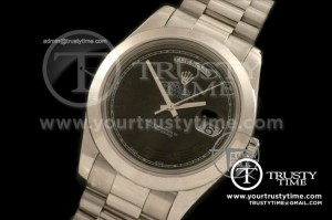 R2DD0172C - SS Pres Smooth Black Numeral Swiss ETA