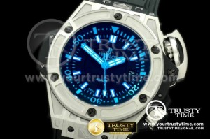 HUB0185D - Lite Diver 4000m SS/RU Black/Blue Asian 7750