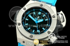 HUB0173B - Hublot King Power Diver 4000m TI/RU Black Asian 2824