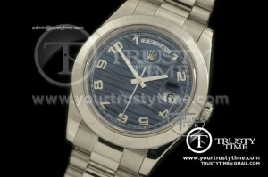 R2DD0174A - SS Pres Smooth Blue Numeral Swiss ETA