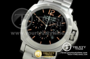 PN356SS - Pam 356 Patina Daylight Chrono SS/SS Black Asian 7750