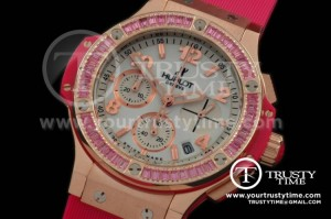 HUB087D - Big Bang 38mm RG/Sq R/Ruby/Ru Aspen White Jap Quartz