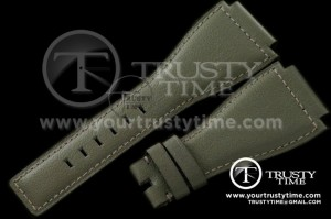 BRACC003D - Leather Strap for all 46mm watches - Grey