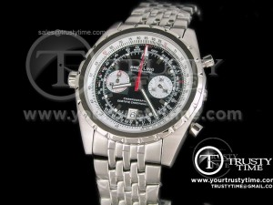 BR016A - Breitling Chronomatic SS Black - Working Chronograph