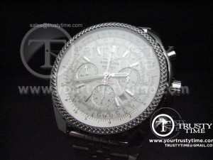 BSW0012B - Breitling Bentley 47mm White - Asia 7750 Chronograph