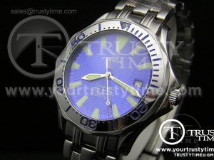 OMG0014A - Omega SeaMaster SS Blue (Special Edition)
