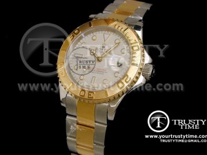 ROLYM012 - YachtMaster TT (14K Wrapped Gold) Light Grey - Swiss