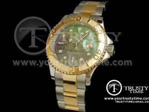 ROLYM013 - YachtMaster TT (14K Gold Wrapped) Black MOP - Swiss