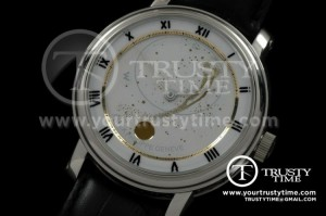 PP0076C - Skymoon Automatic SS/LE White Asian 2813 21J