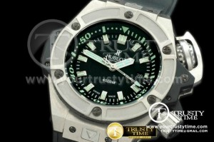 HUB0146 - Hublot King Power Diver 4000m TI/RU Black Asian 2824