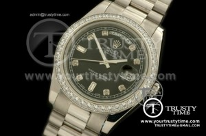 R2DD0174C - SS Pres Diamond Black Diamonds Swiss ETA