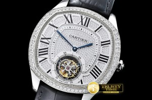 CAR0376B - Drive De Cartier Tourbillon SS/LE Diams Tourbillon