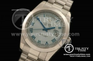 R2DD0172B - SS Pres Smooth L-Blue Roman Swiss ETA